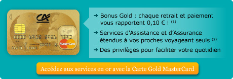 Carte Gold Credit Agricole.Credit Agricole Martinique Guyane Gold Mastercard Tous